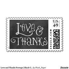Love and Thanks Postage | Black Chalkboard Charm