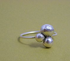 Sterling Pebble Ring by ModernMeetsWhimsy
