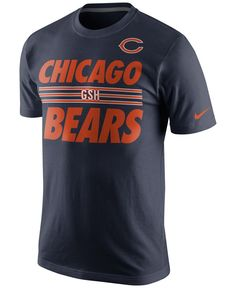 Show your football-loving stripes in this Nike Nfl Team Stripe t-shirt. This classic tee is stylized with bold stripes and Chicago Bears graphics at the front. | Cotton | Machine washable | Imported |
