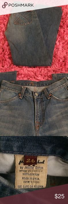 ❤️SALE❤️ 7 for all mankind jeans 7 for all mankind jeans size 26. They are an older style (2001-ish I think!). Excellent condition. Very little wear.   Measurements laying flat: Waist: 13in Inseam: 29in   ❤️No trades or other websites ❤️Open to reasonable offers  ❤️Next day ship Mon-Sat ❤️4.9 rating ❤️200+ listings sold 7 for all Mankind Jeans Boot Cut