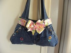purses from blue jeans | All Things Homemade