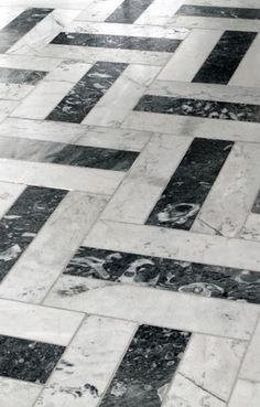 Carrara marble | floor pattern