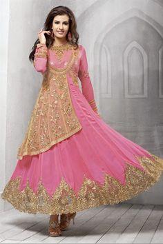 Marvelous Pink Color Designer Salwar Kameez