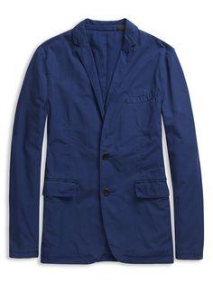 Plectrum Cotton Blazer | Atlantic Blue | Ben Sherman