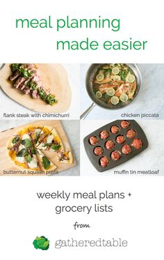Make healthy homemade dinners easier with customized meal plans, grocery lists, & optional grocery delivery.