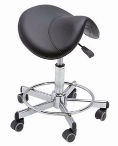 Esthetician saddle stool. I use these at work, they are life savers!