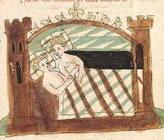 """Rudolf <von Ems> Willehalm von Orlens — Straßburg - """"Werkstatt von 1418"""", um 1420 Cod. Pal. germ. 323 Folio 255r"""