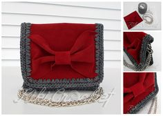 A very easy and elegant crochet purse, with a leather lid that is decorated with a bow!! Follow the tutorial to see all instructions! Don't forget to post a pic of your finished project here! :)