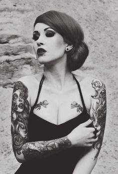 rašalu merginos, retro tatuiruotės, tatuiruotė idėjų, tatuiruotę merginos, pin up, MR piligrimas.