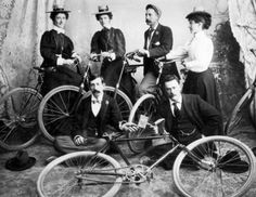 Members of the Chinook Bicycle Club (c. 1894-1900).      (stellar-raven:via)