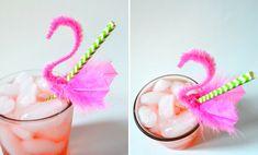 Pajitas de flamingos