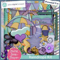 Raindrops by Digital Gator Designs