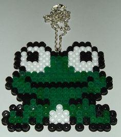 Kawaii Frog hama bead necklace by LetsGoPanda