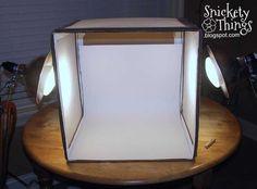 DIY photography light box