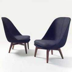 Solo Lounge Chair - дизайнерское кресло с высокой спинкой. Гостиная, кафе, спальня. Скандинавский стиль. Минимализм.