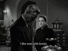 I like men with brains