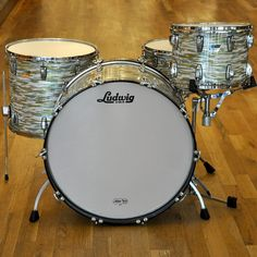 Ludwig Classic Maple 14/18/26 3pc Drum Kit Blue/Olive Oyster