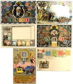 Stamps, 6 different picture postcards, of it two times used, about 1910 with stamps subjects Bavaria, condition I  Dealer Hadersbeck Auction...