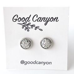 Small Silver Druzy Earrings – Good Canyon