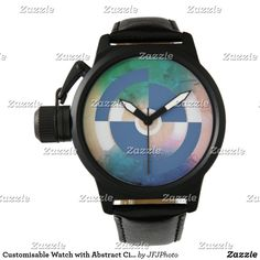 Customisable Watch with Abstract Circle
