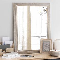 Espejo de madera natural H 80 cm CORBIGNY