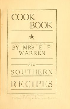 Book of Southern Recipes
