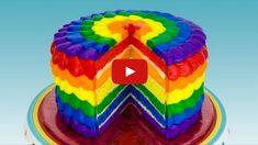 Awesome Image of Rainbow Birthday Cakes . Rainbow Birthday Cakes Rainbow Cake How To Make A Rainbow Cake Cookies Cupcakes And Rainbow Icing, Rainbow Cake Pops, Rainbow Ice Cream, Rainbow Food, Taste The Rainbow, Cookies Cupcakes And Cardio, Fun Cupcakes, Cake Cookies, Cupcake Cakes