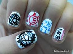 supernatural nail art - Google Search