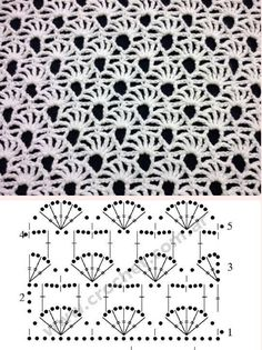PUNTO LAZADA A CROCHET - Crochet Baby - Patterns and Starter Pages - You are in the right place about crochet patterns flowers Here we offer you the most beauti Crochet Motifs, Crochet Diagram, Crochet Stitches Patterns, Crochet Chart, Filet Crochet, Baby Patterns, Crochet Baby, Stitch Patterns, Knitting Patterns