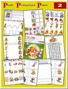 Free printable preschool pack -- Winnie the Pooh