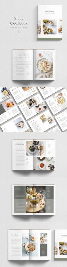 Sicily Cookbook Design Template. File Type: PDF, INDD, JPG. File Size: 80.81 MB. Vector. DPI: 300. Layered. Tileable Recipe Book Design, Cookbook Design, Book Design Layout, Menu Design, Design Layouts, Lookbook Layout, Cookbook Template, Indesign Templates, Adobe Indesign