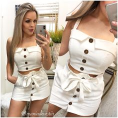 Short Outfits, Cool Outfits, Summer Outfits, Women's Summer Fashion, Love Fashion, Fashion Trends, Future Clothes, Teenager Outfits, Colourful Outfits