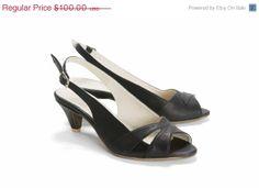 Summer Sandal // Peep Toe // SALE 50 Discount by OliveThomasShoes, $85.00