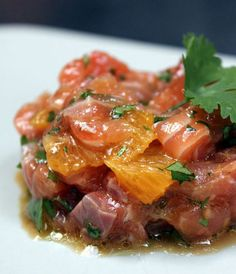 Tartare de saumon à l'orange