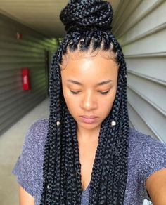 Gorgoeus box braids by @xoxojenise❤️ Voiceofhair.com