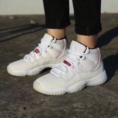 newest f6a89 2191b Air Jordan 11 Platinum Tint On Feet Jordan 23 Shoes, Nike Air Jordan 11,