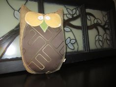 Hand made oneofakind stuffed owl pillow by TudazTrendz on Etsy, $39.95