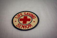 Vintage American Red Cross Senior Life Saving Patch! Free US Shipping!
