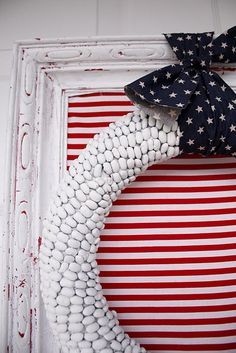 Fourth of July ~ I should try this with solid colored glass in Polar White Pearl.
