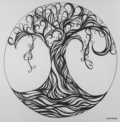 zentangle | Zentangle, Doodling and Drawing Trees / Tree of Life River Deep