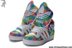 Cheap Discount Adidas X Jeremy Scott Big Tongue 3D Shoes Coloful Shoes Store