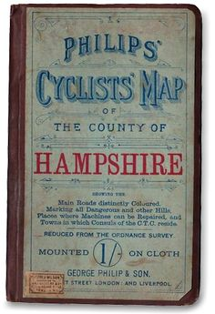 Letterology: Late 19th C Cycling Maps