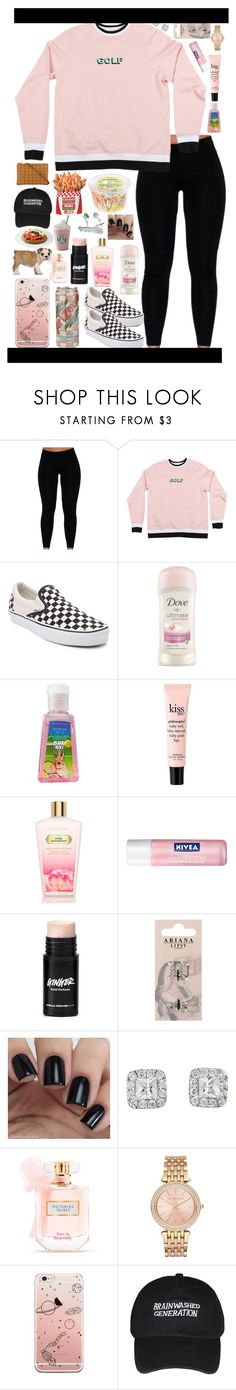 """""""It's hard to talk about it when you can't put it in words correctly"""" by the-after-party ❤ liked on Polyvore featuring Vans, Dove, INC International Concepts, philosophy, Victoria's Secret, Nivea, Lipsy, Michael Kors and MCM"""