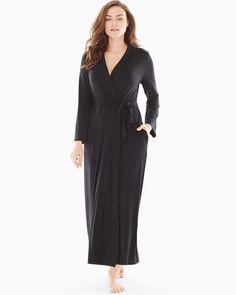 5baa42866f Cool Nights Long Robe Black Lingerie Sleepwear