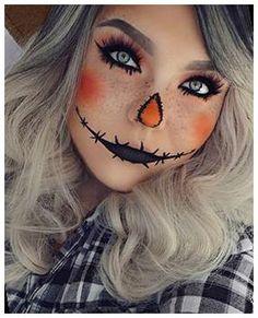 Scarecrow Halloween Makeup, Unique Halloween Makeup, Halloween Makeup Clown, Halloween Makeup Looks, Halloween 2018, Costume Halloween, Scary Halloween, Scarecrow Costume, Zombie Makeup