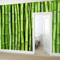 Rebel Walls foto behang interiors wallpaper behang woonkamer behang slaapkamer #trendy #interieurtrends bamboo