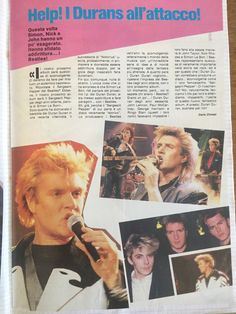 From my Duran collection Simon Le Bon, Beatles, Event Ticket, Interview, Waves, Teen, Movie Posters, Collection, Musica