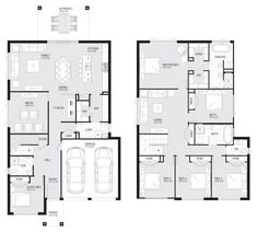 Home Renovation Planning Aria 38 - Double Level - Floorplan by Kurmond Homes - New Home Builders Sydney NSW 5 Bedroom House Plans, Dream House Plans, House Floor Plans, Double Storey House Plans, Double Story House, Home Remodeling Contractors, Home Remodeling Diy, Home Design Floor Plans, Storey Homes