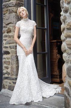 Alvina Valenta short cap sleeves boho wedding dresses
