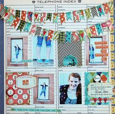What a fun combo!  I could use this as a roundup layout for one of my workshops.  October Afternoon 9 to 5